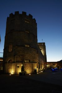 Oxford Castle Unlocked - St George's Tower by night