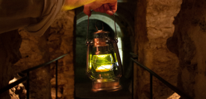 Lantern Held in Crypt