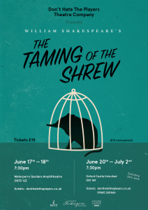 Tamign of the Shrew theatre showposter
