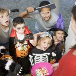 halloween - children trick or treat